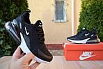 Жіночі кросівки Nike Air Max 270 (чорно-білі) 2893, фото 2