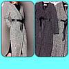 Длинное пальто с запахом и черным поясом, фото 2