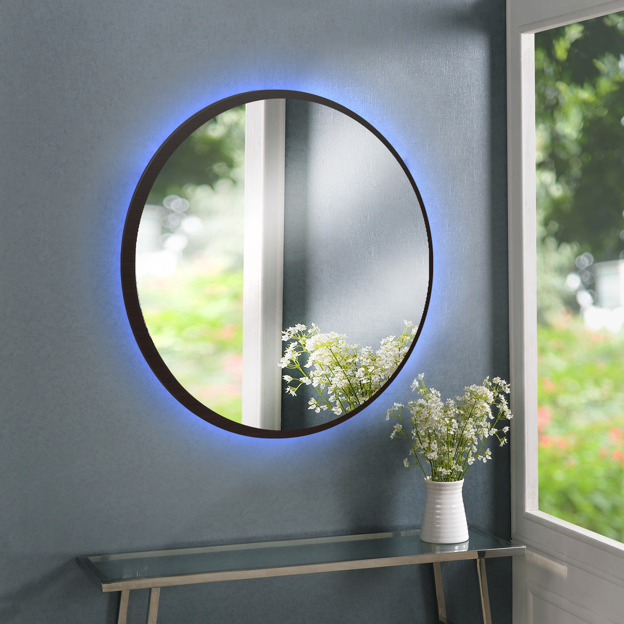 Зеркало круглое, с подсветкой Led 800 мм