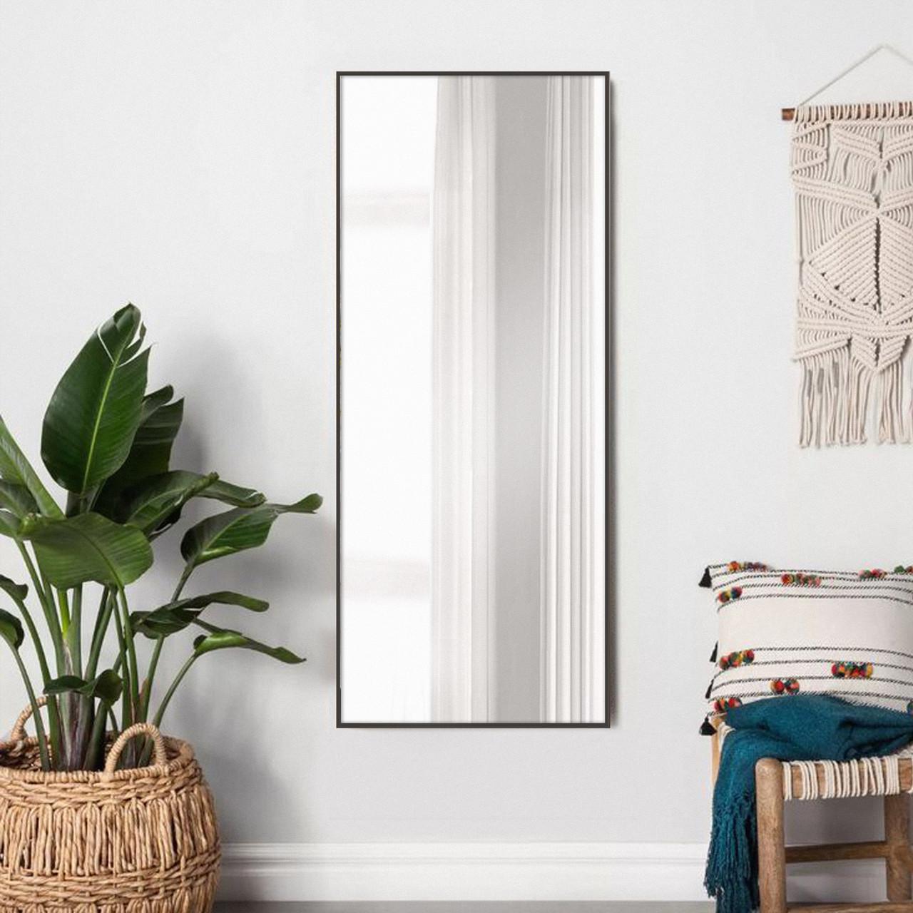 Зеркало в рост в алюминиевой раме, коричневое