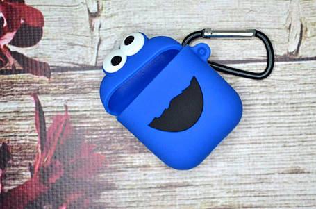Чехол для наушников Apple AirPods, Аирподс - Печеньковый Монстр, фото 2