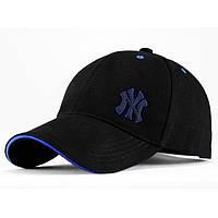 Бейсболка котон Black New York-3