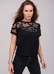 Женская футболка с сеткой, в расцветках, р.S,М,L