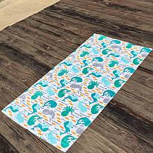 Детское махровое пляжное полотенце для мальчика, девочки подстилка, покрывало, коврик