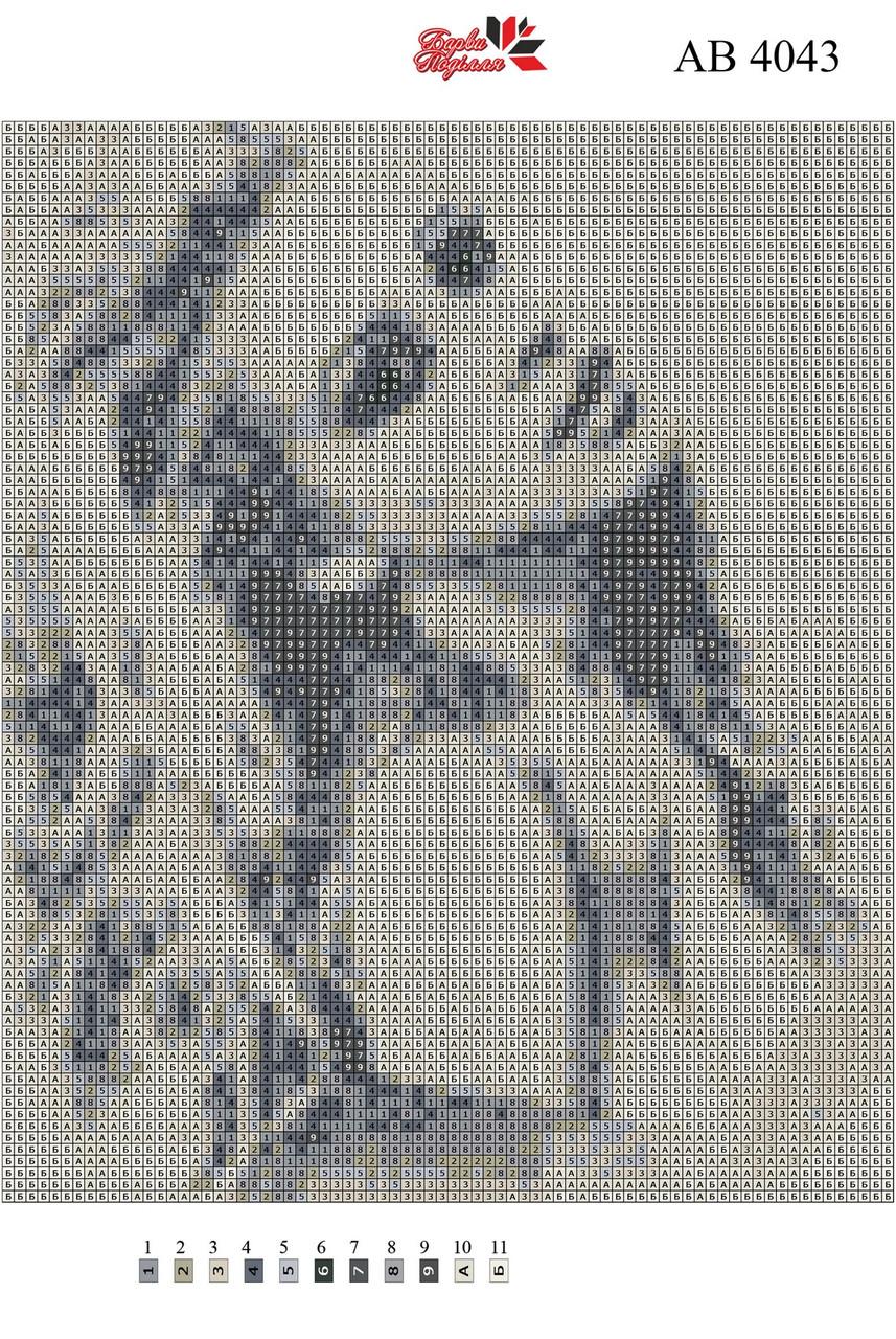 Алмазная вышивка АВ 4043 (полная зашивка)
