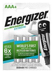 Аккумулятор Energizer Recharge Extreme, AAA/(HR03), 800 mAh, LSD Ni-MH, блистер 4шт