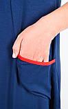 Ярина. Практичное платье большого размера. Синий., фото 6