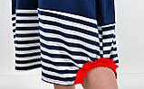 Ярина. Практичное платье большого размера. Синий., фото 7