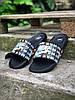 Шлепки тапки мужские летние стильные качественные модные черные Найк