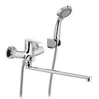 Смеситель для ванны с душем Mixxus Premium push chr-006 button