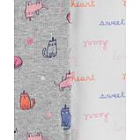 Набір бодиков carter's для дівчинки з довгим рукавом, різні кольори 12М (72-78 см), фото 2