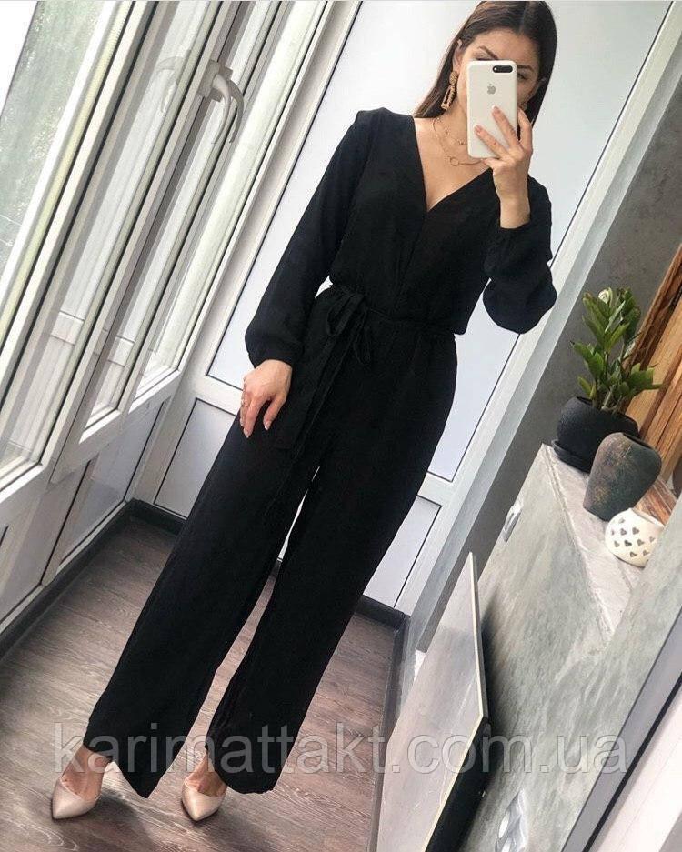 Женский комбинезон с брюками и блуза с длинным рукавом