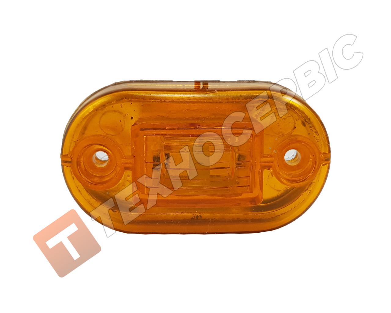 Фонарь габаритов маркерный светодиодный желтый 2LED (пр-во YUCEPLAST) Турция