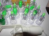 Вакуумные (массажные) банки для домашней терапии - pull out a vacuum apparatus KL 12 шт., фото 5