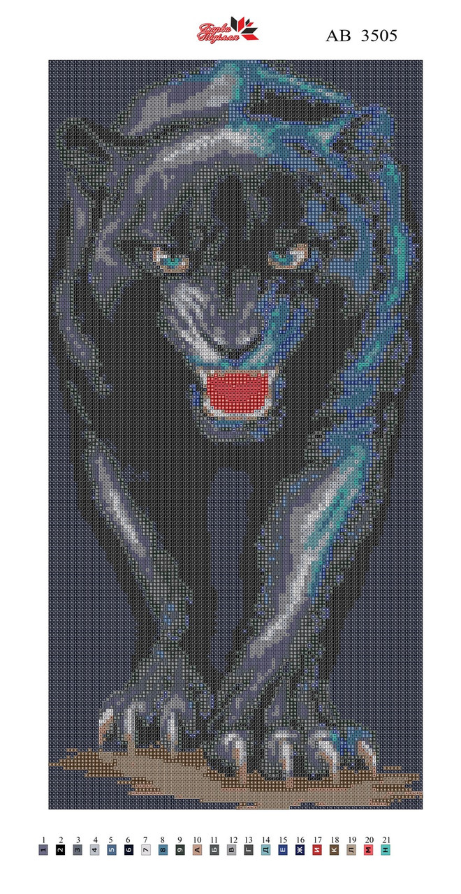 Алмазна вишивка АВ 3505 Пантера