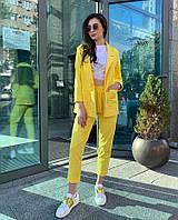 Женский яркий костюм пиджак и брюки, фото 1