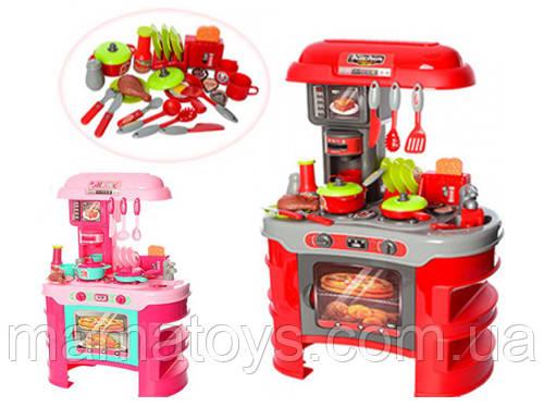 Детская игровая Кухня 008-908 / 008-908 А свет, звук, тостер, кофеварка. 2 вида