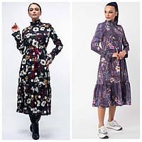 Платье в стиле бохо женское «Ренни» (Фиолетовое, черное | 42, 44, 46, 48, 50, 52)