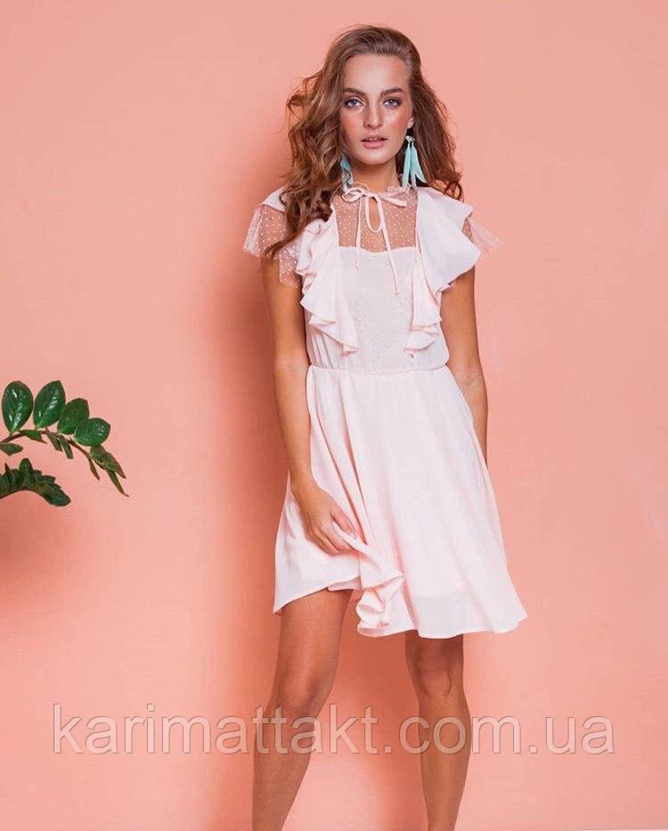 Женское платье зефирка