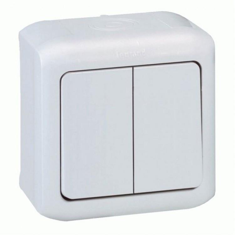 Выключатель Legrand Forix 2 кл. IP44 белый