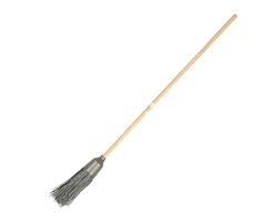 Мітла пластмасова з дерев'яною ручкою 0,9*150 см чорна