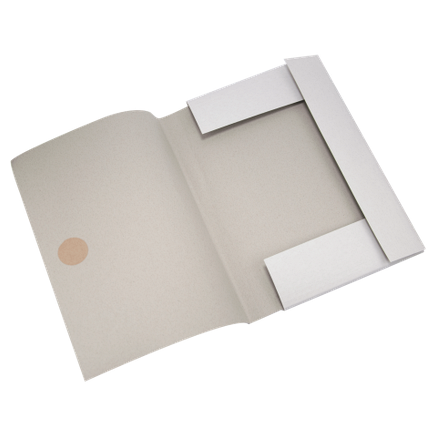 Папка на завязках, JOBMAX, А4, картон 0,3 мм, клееный клапан, фото 2