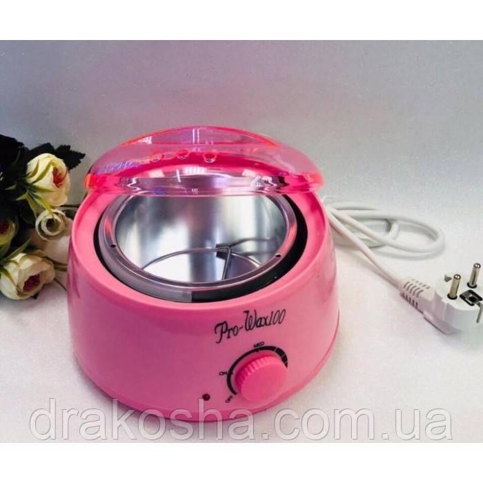 Нагреватель для горячего воска воскоплав Pro Wax 100 JG117 депиляция Розовый