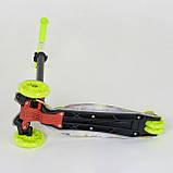 Самокат трехколесный для детей от 3 лет Best Scooter Maxi А 25534 / 779-1332 с подсветкой колес, салатовый, фото 4