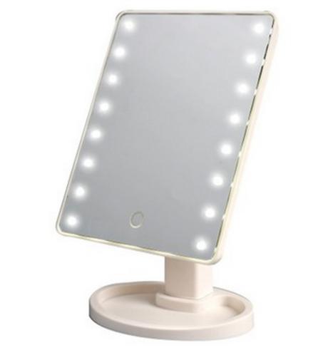 Настольное зеркало для макияжа SUNROZ  с LED подсветкой  16 светодиода Белое (0150)