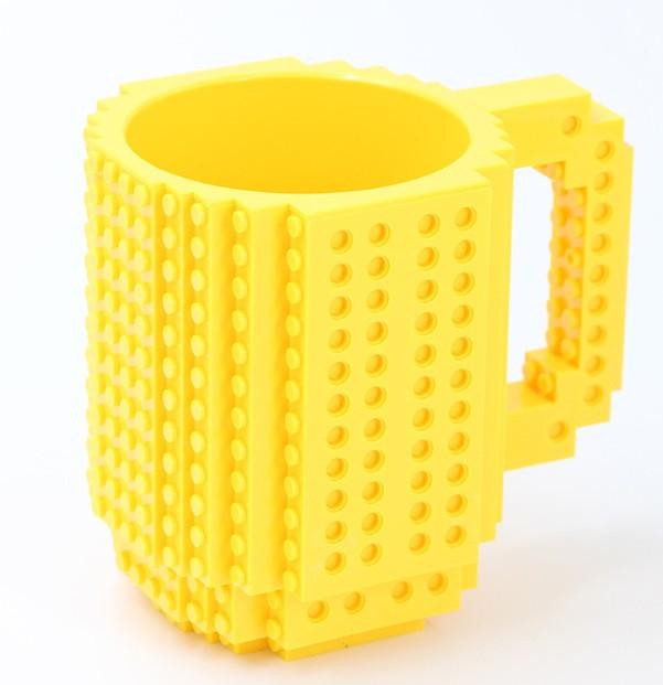 Чашка-конструктор SUNROZ з деталями в комплекті 350 мл Жовтий (3781)