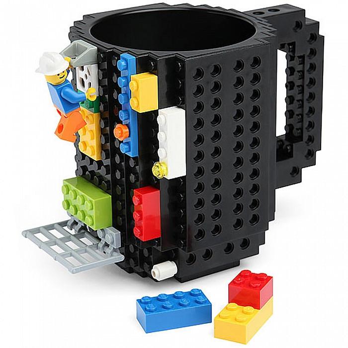 Чашка-конструктор SUNROZ з деталями в комплекті 350 мл Черный (3780_1)