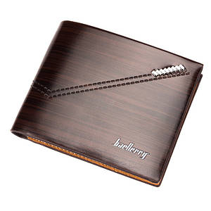 Мужской кошелек BAELLERRY Fashion Young Style Кожаный молодежный кошелек Short Темно-Коричневый