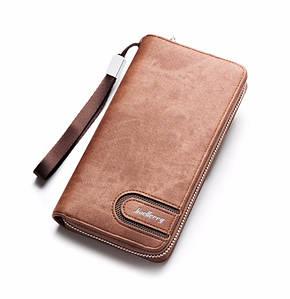 Мужской клатч портмоне BAELLERRY Jeans Young Style мужской клатч портмоне на молнии, Коричневый