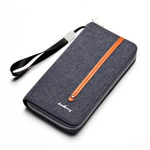 Мужской клатч портмоне BAELLERRY Jeans мужской клатч портмоне на молнии, Синий