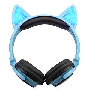 Наушники LINX BL108A Bluetooth наушники с кошачьими ушками LED Синие