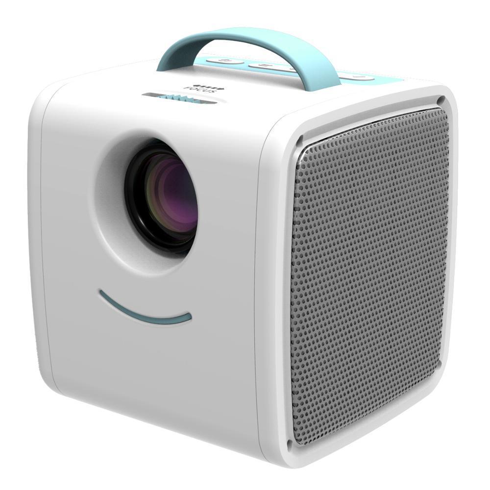 Дитячий міні проектор SUNROZ Q2 Kids Story Projector для домашнього використання Біло-Блакитний