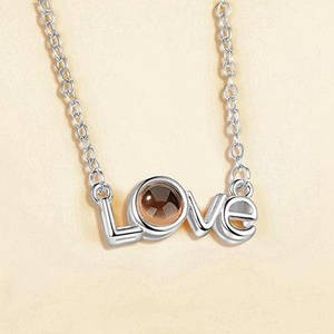 """Підвіска SUNROZ Heart I love You """"Я люблю тебе"""" на 100 мовах Срібний"""