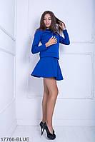 Жіночий костюм Подіум Blum 17766-BLUE XS Синій