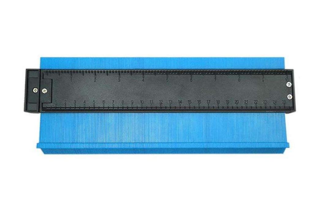 Універсальний вимірювач контуру SUNROZ контурна лінійка 25см Синій (5653)