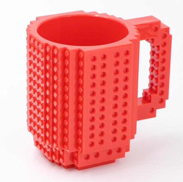 Чашка-конструктор SUNROZ з деталями в комплекті 350 мл Червоний (3777)