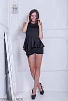 Жіночий костюм шорти і майка Подіум Arenaria 12689-BLACK S Чорний