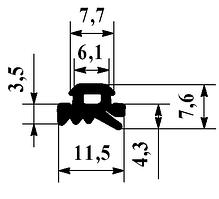 Уплотнитель ригеля Alutech FRK-14 для алюминиевой фасадной системы