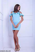 Жіноче плаття Подіум Leona 20023-BLUE XS Голубий