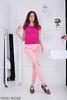 Жіночі легінси Подіум Amori 18561-ROSE XS Рожевий