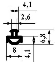 Уплотнитель притвора Alutech FRK-07 для алюминиевой фасадной системы