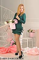 Жіноче плаття Подіум Arisa 21089-DARKGREEN XS Зелений