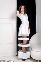 Жіноче плаття Подіум Mishele 20937-WHITE XS Білий