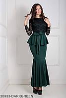 Жіноче плаття Подіум Adelis 20933-DARKGREEN XS Зелений