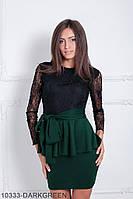 Жіноче плаття Подіум Choco 10333-DARKGREEN S Зелений