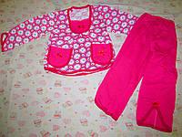Пижама Два кармана для девочек начес